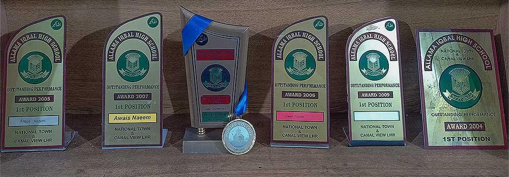 First Prize Shileds awarded to Awais Naeem from Grade 1 till Grade 10