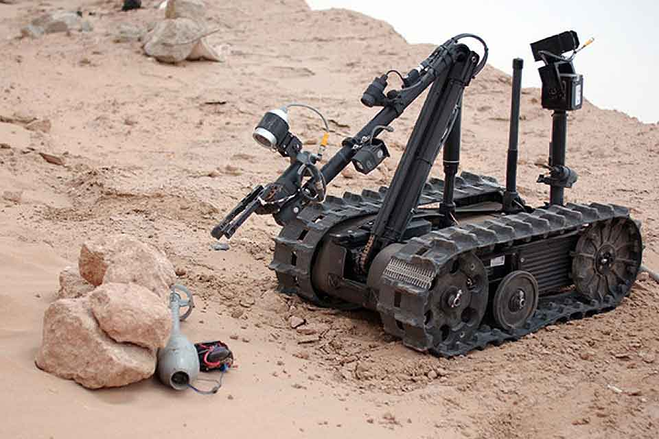 A Teleoperated Military Robot