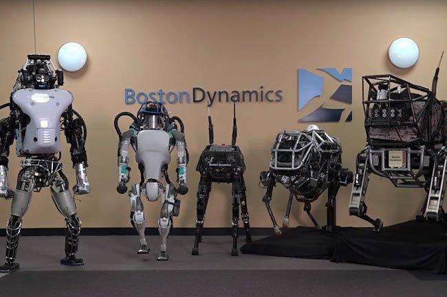 Boston Dynamics Humanoid and Quadrupled Robots