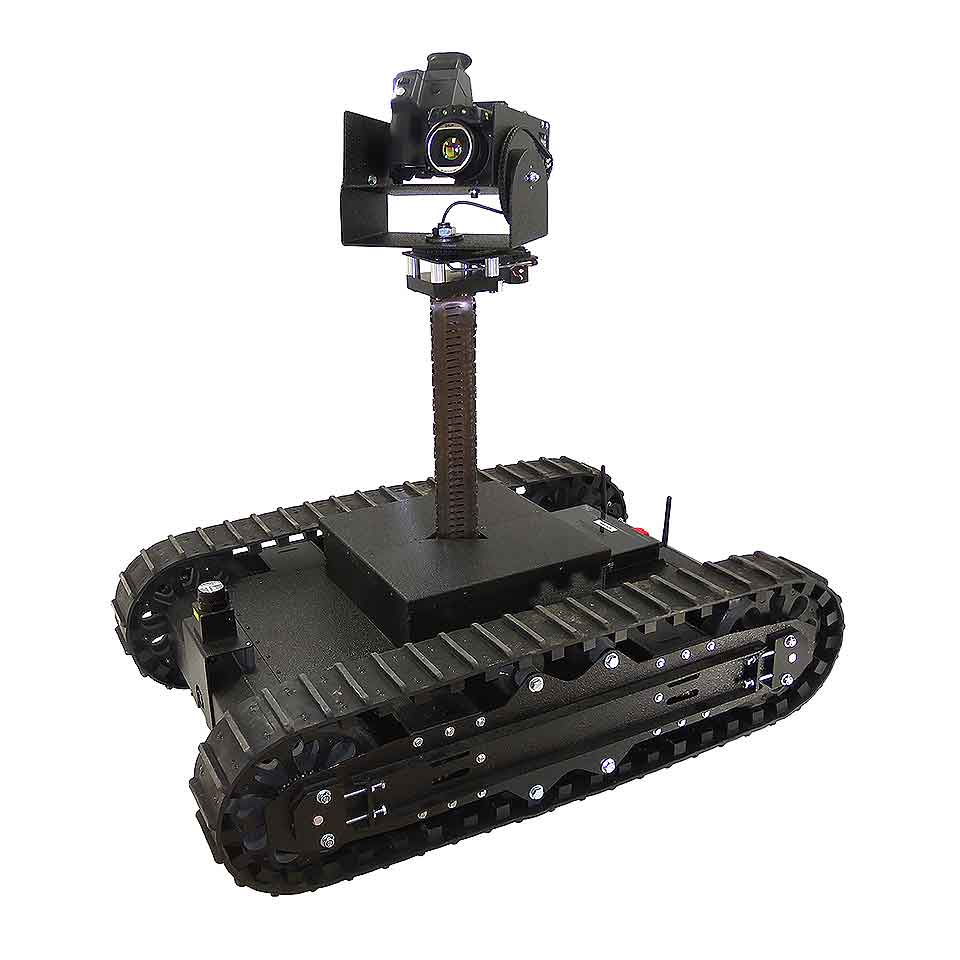 Camera Installed on a Surveillance Robot for Vision