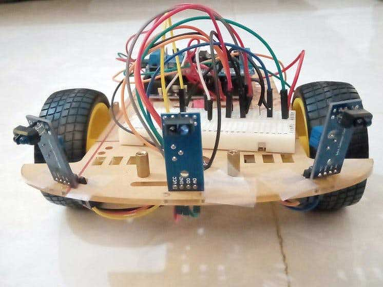 Obstacle Avoidance Robot with 3 IR Sensors