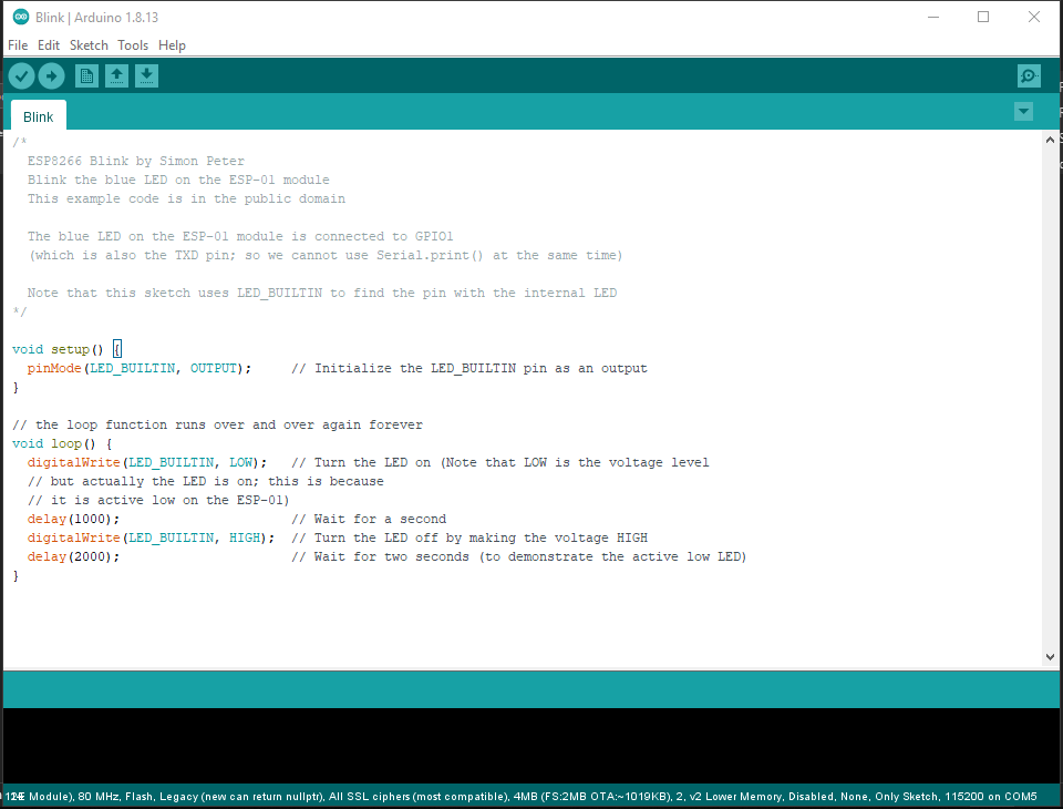Sample Blink Program
