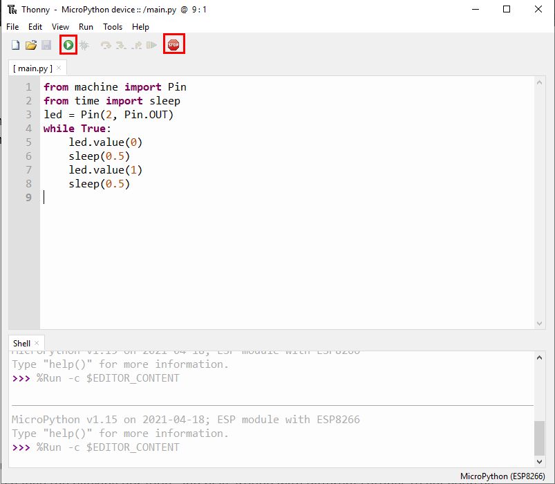 Thonny IDE Script