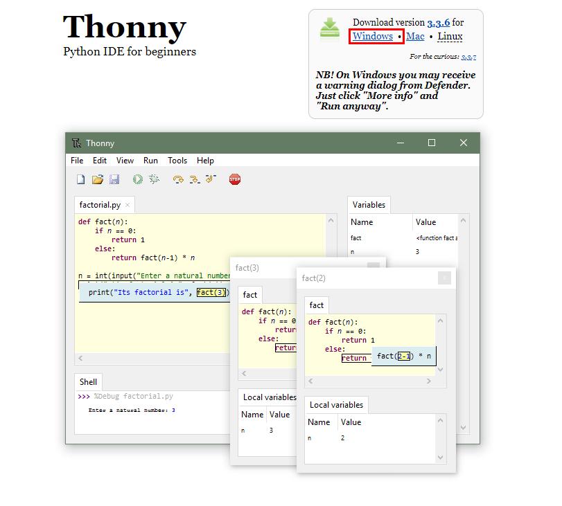 Thonny Installer for Windows
