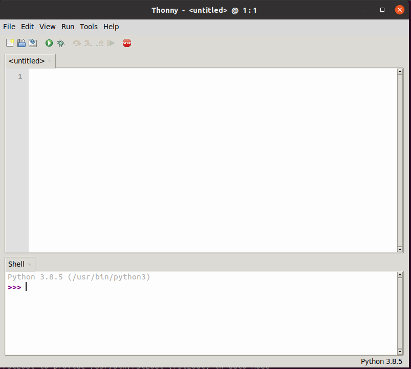 Thonny Interface Linux