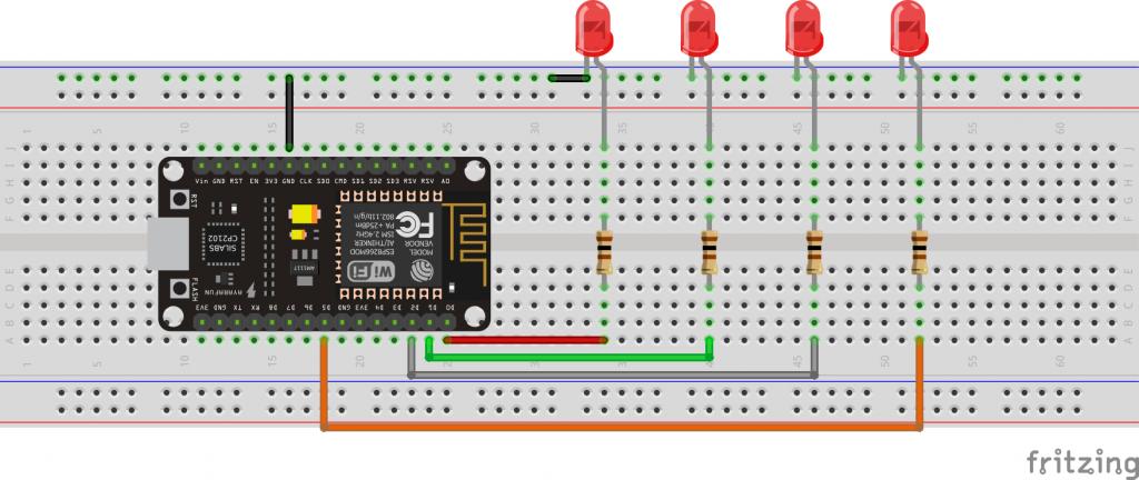 ESP8266 Interfacing with LEDs